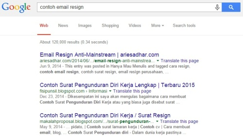 Contoh Email Resign
