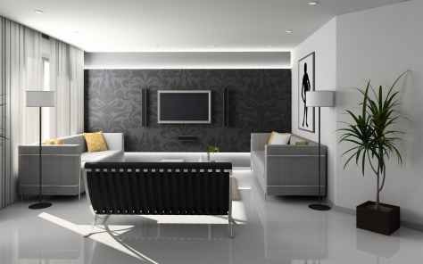 apartment chair clean contemporary