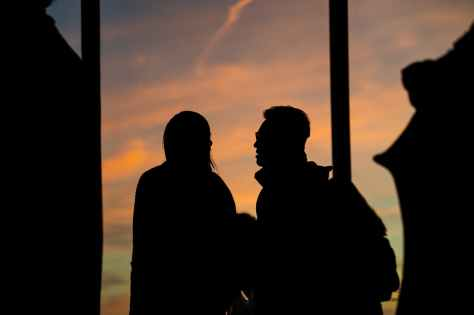 silhouette photography of people